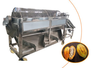 Cylinder round sifter for cocoa