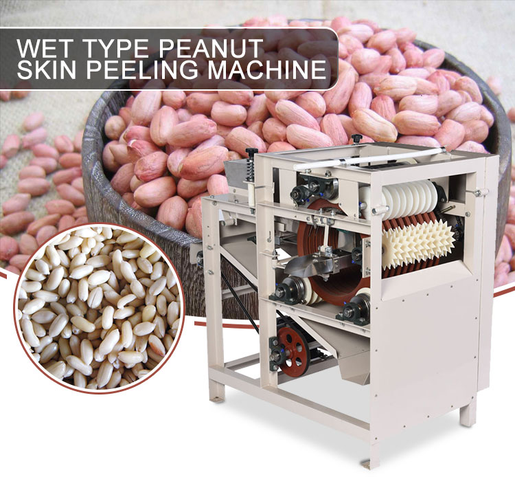 Wet type peanut skin peeling machine