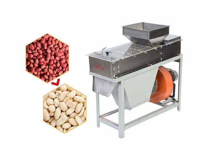 Dry type peanut skin peeling machine