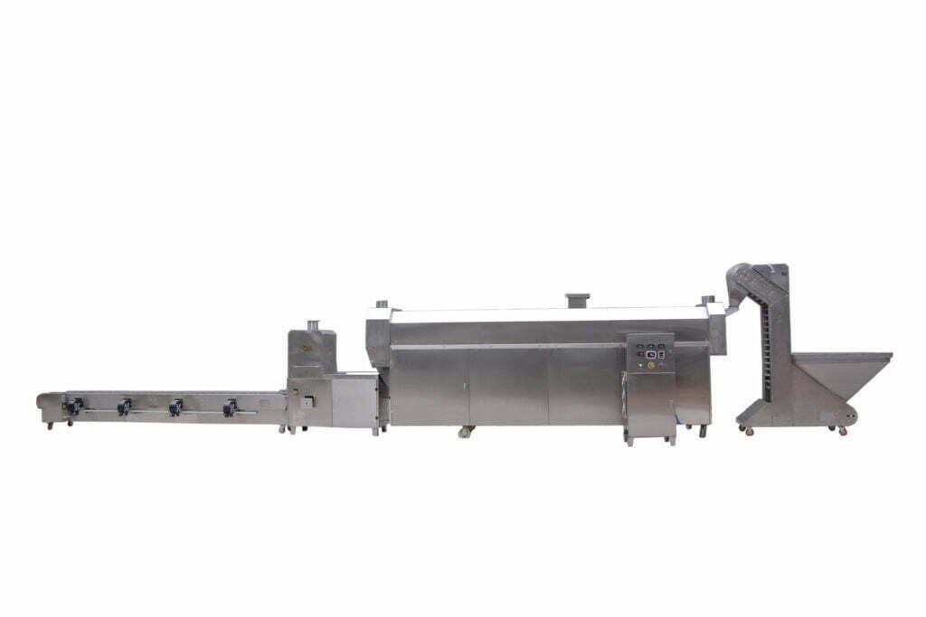 Electromagnetic roasting production line