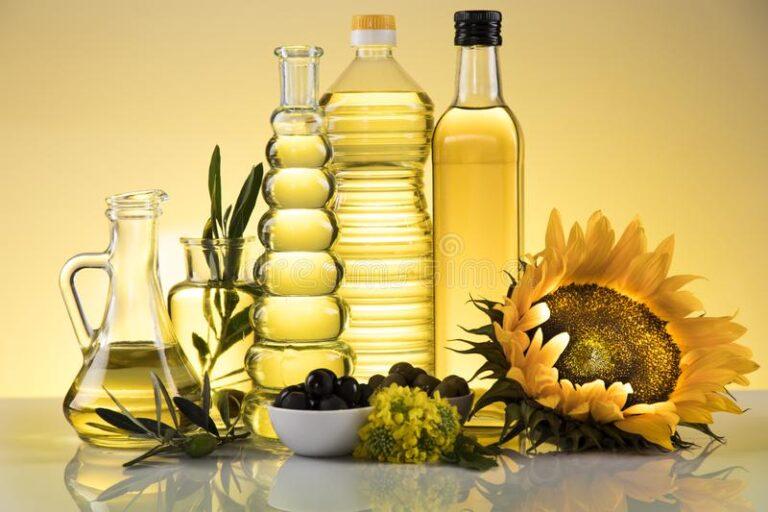 Olive oil, sunflower oil, canola oil