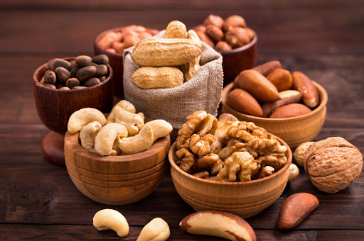 All kinds of different nuts